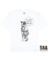 ABUSED CAT Printed T-Shirt in White - T-Shirts - Milk DoNg Comics - BRANMA