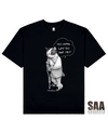 ABUSED CAT Printed T-Shirt in Black - T-Shirts - Milk DoNg Comics - BRANMA