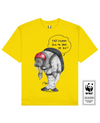 CLIFFJUMPING WALRUS Printed T-Shirt in Yellow - T-Shirts - Milk DoNg Comics - BRANMA