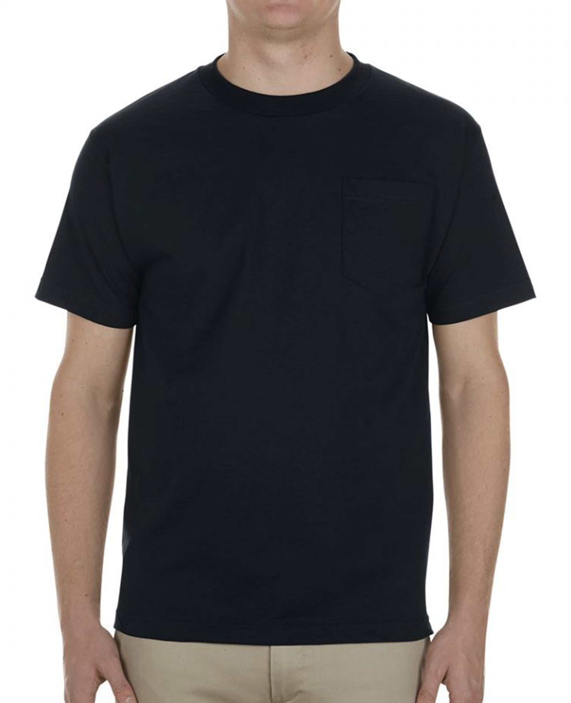 Pocket T-shirt in Black - T-Shirts - Alstyle (AAA) - BRANMA