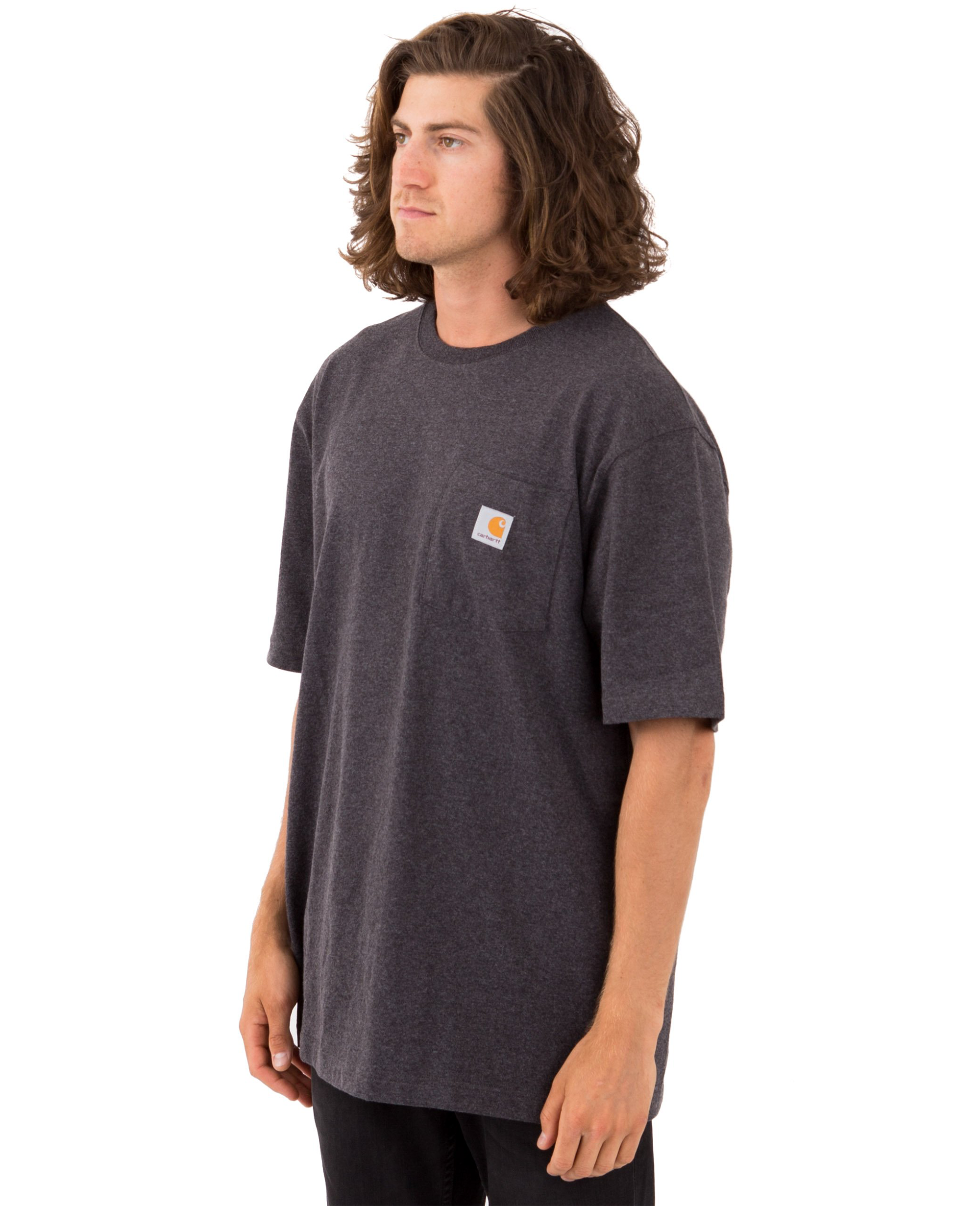 Heavyweight Pocket T-shirt in Carbon Heather - T-Shirts - Carhartt WIP - BRANMA