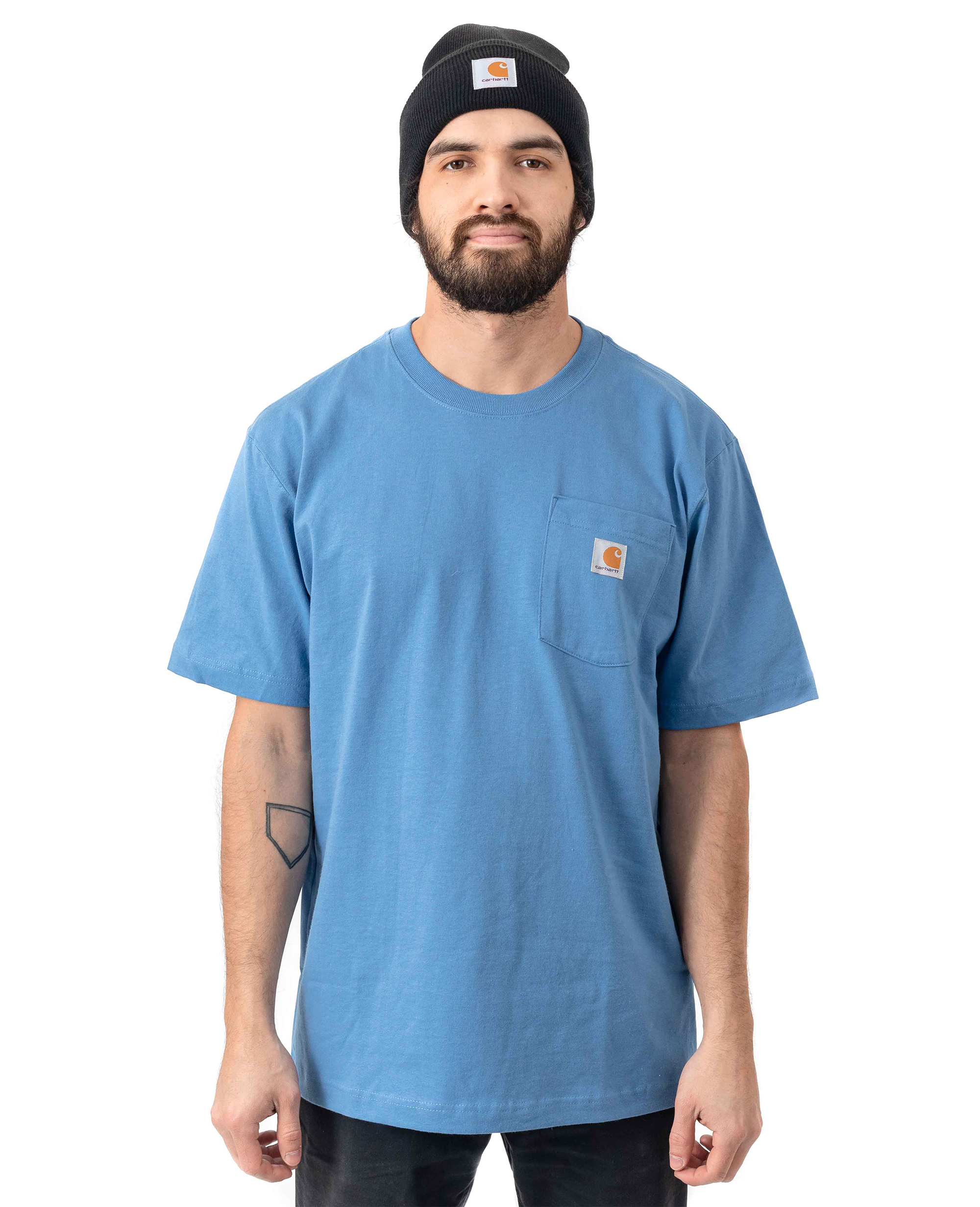 Heavyweight Pocket T-shirt in French Blue - T-Shirts - Carhartt WIP - BRANMA