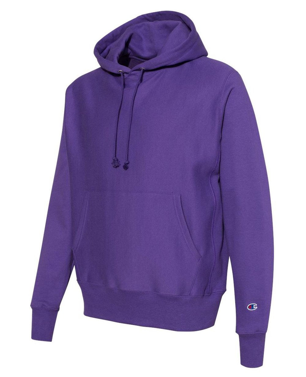 Sleeve Logo Pullover Hoodies in Purple
