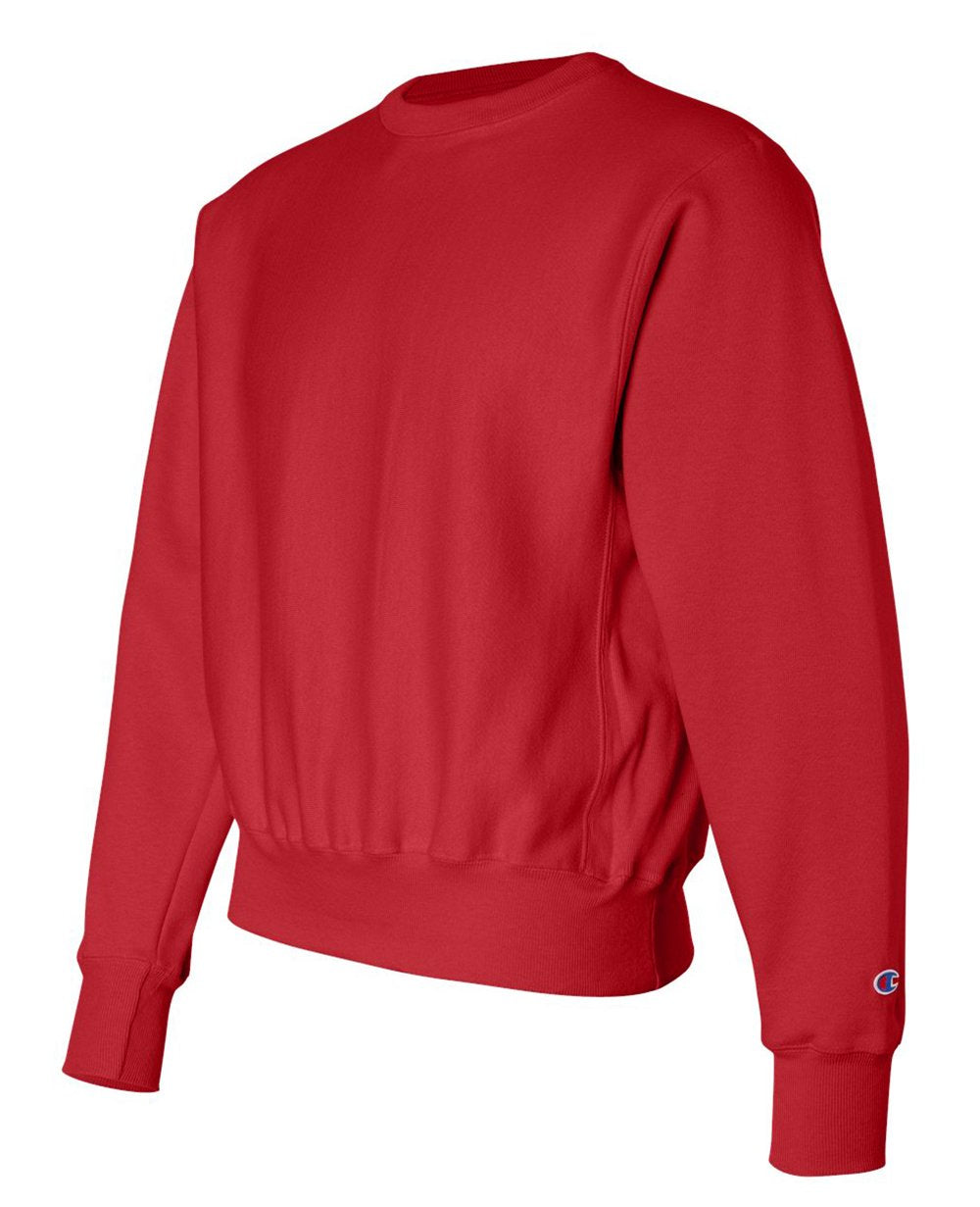 Sleeve Logo Sweater in Red