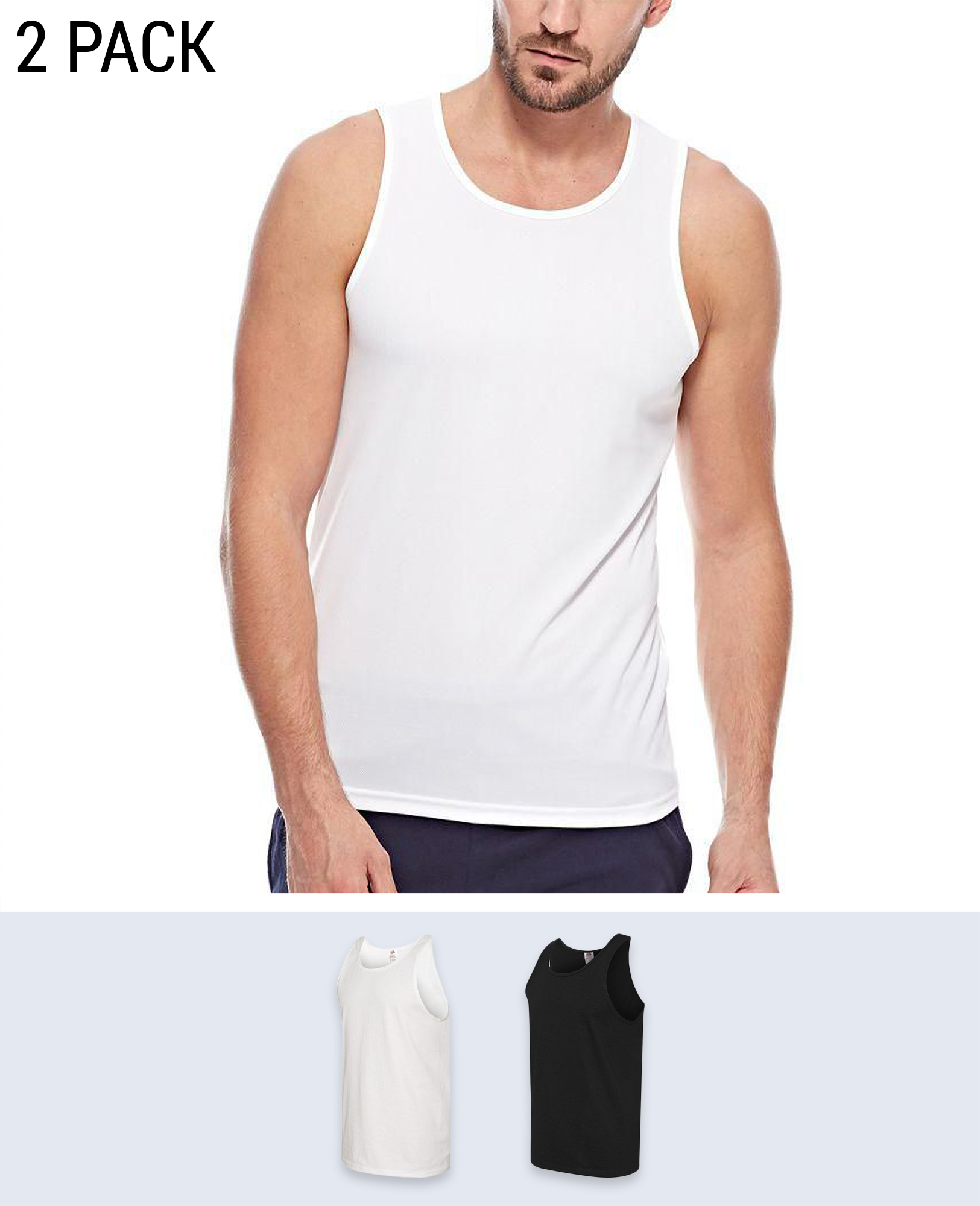 2 pack Men's Tank - Tanks - Fruit of the loom - BRANMA