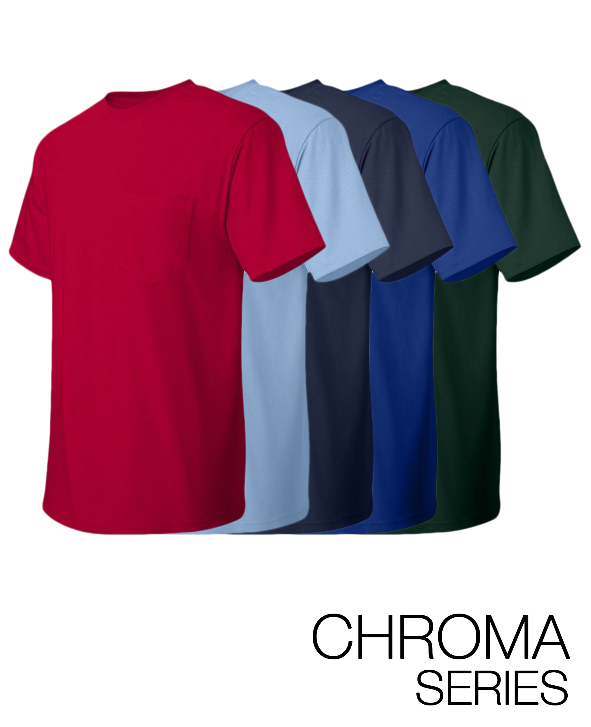 Chroma Series Heavyweight Pocket T-shirt - T-Shirts - Hanes - BRANMA