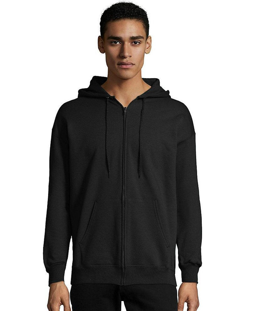 Zip-up Hoodie in Black