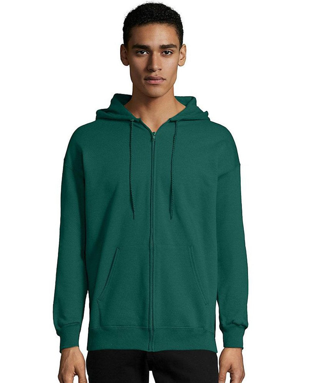Zip-up Hoodie in Deep Forest