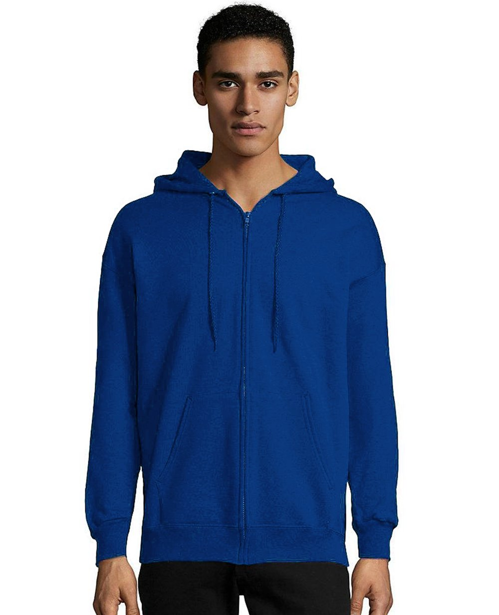 Zip-up Hoodie in Deep Royal