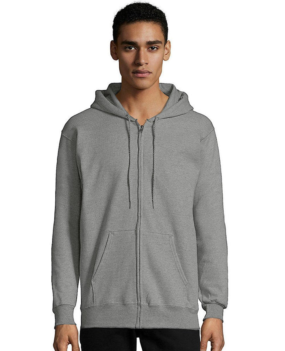 Zip-up Hoodie in Light Steel
