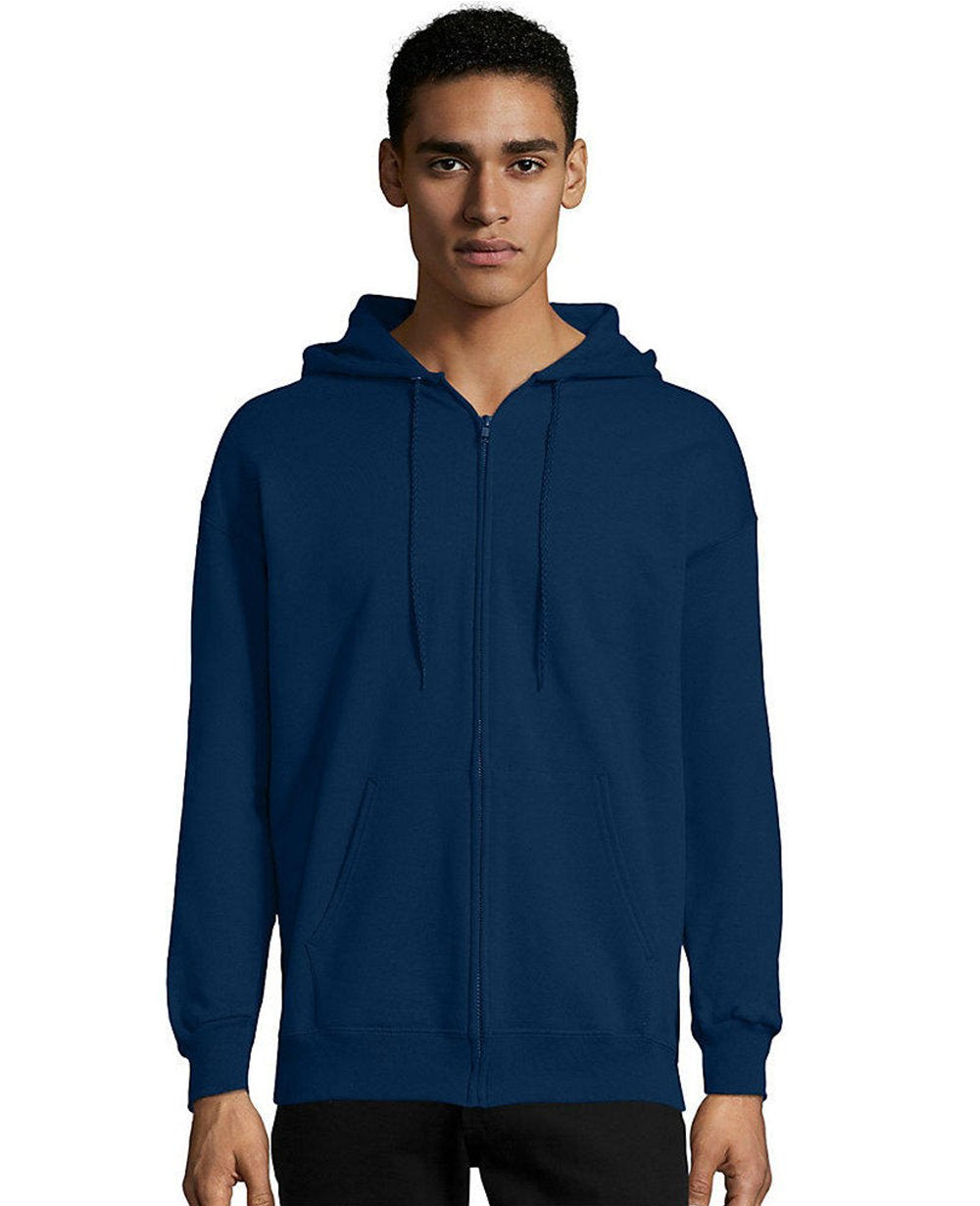 Zip-up Hoodie in Navy