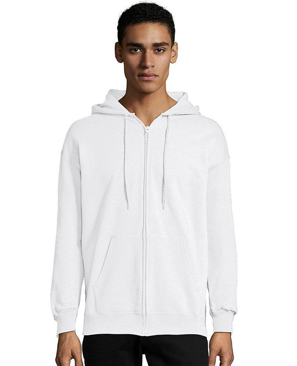 Zip-up Hoodie in White