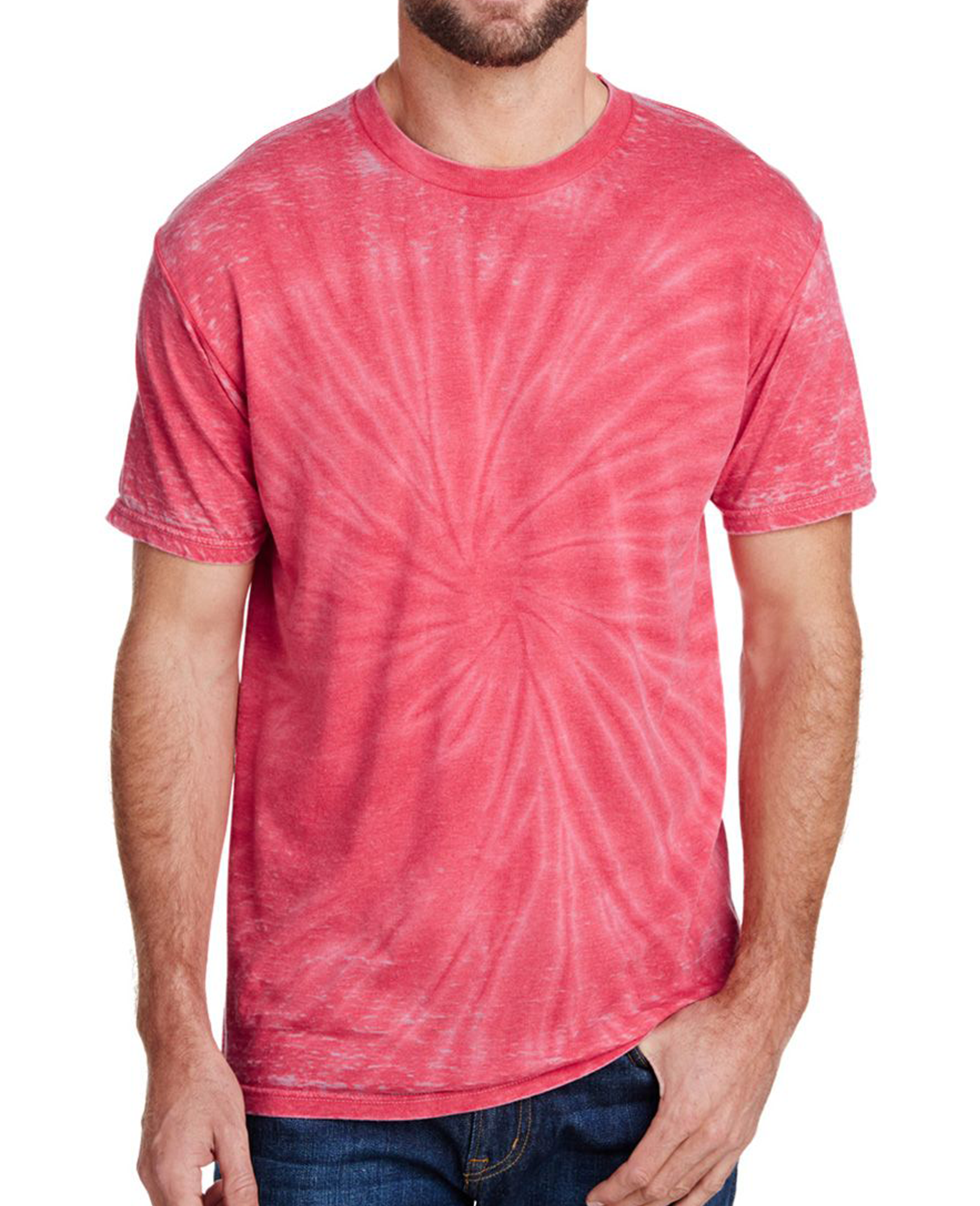 Burnout Festival Tie Dye T-shirt in Red - T-Shirts - Tie-Dye - BRANMA