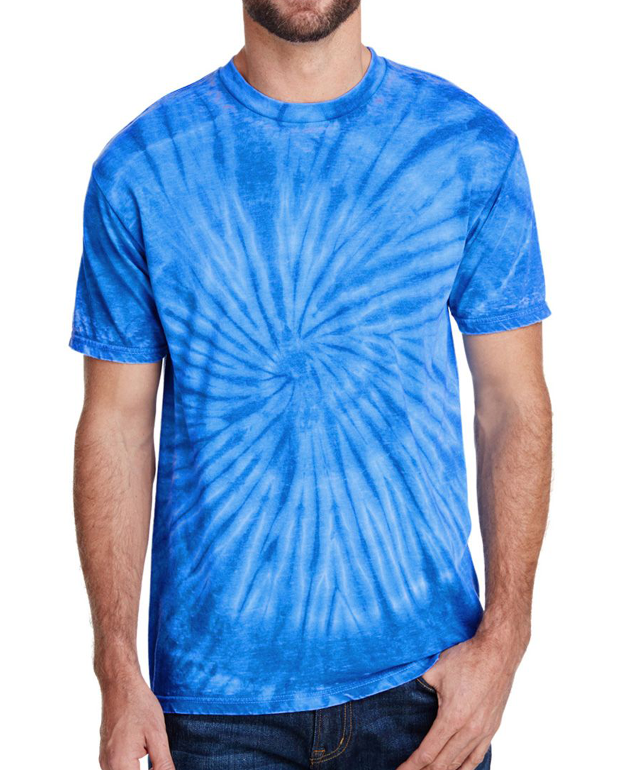 Burnout Festival Tie Dye T-shirt in Royal - T-Shirts - Tie-Dye - BRANMA
