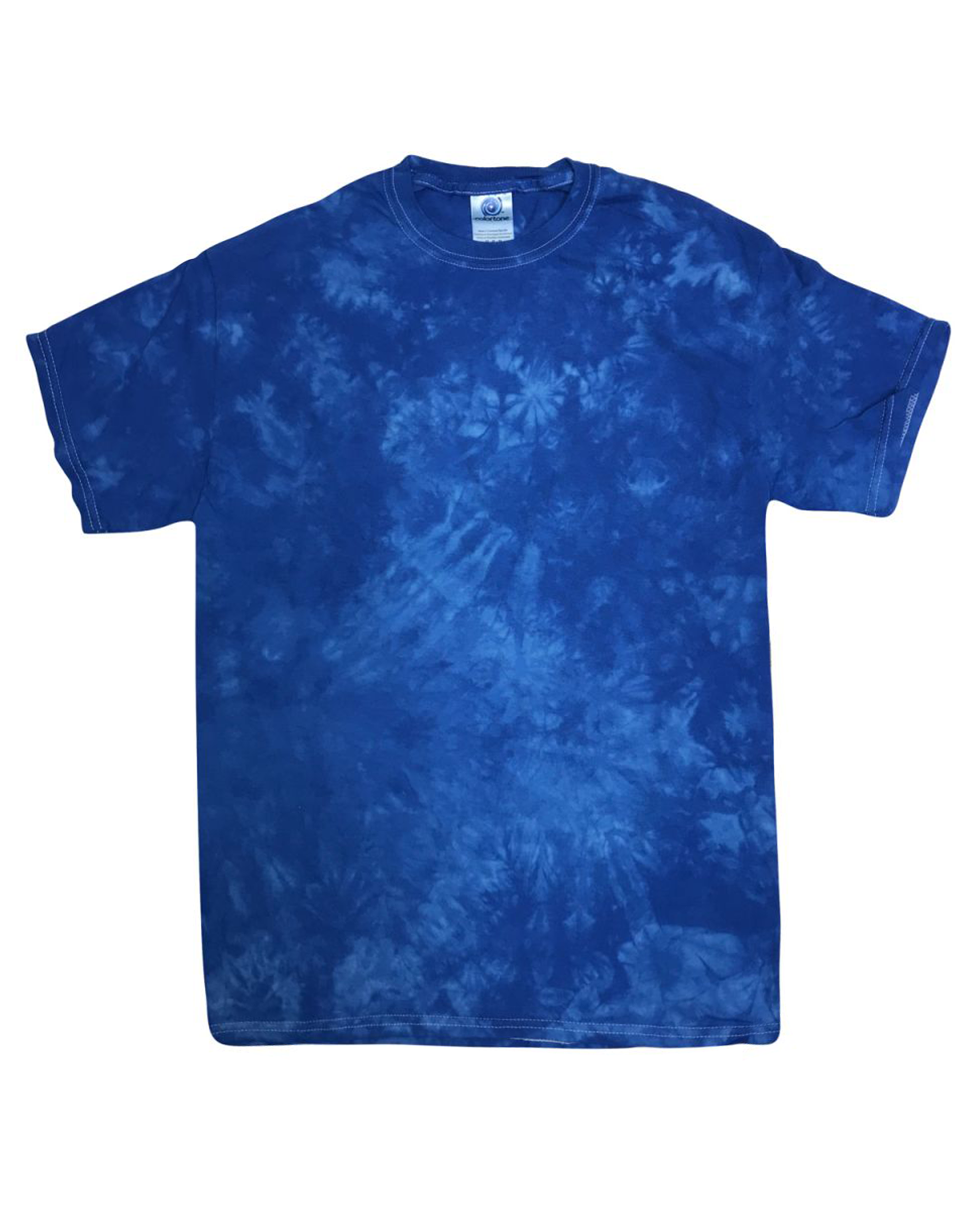 Crystal Wash Tie Dye T-shirt in Royal - T-Shirts - Tie-Dye - BRANMA