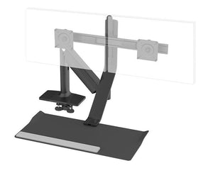 HUMANSCALE QUICKSTAND LITE DUAL LCD CLAMP BLK - POS Deals