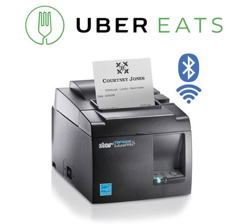 UBEREATS STAR TSP143III BLUETOOTH THERMAL RECEIPT PRINTER - POS Deals