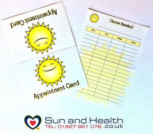 Sunbed Tanning Salon Appointment Cards