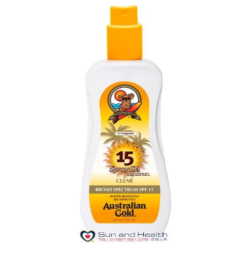 Australian Gold SPF15 Spray Gel Clear