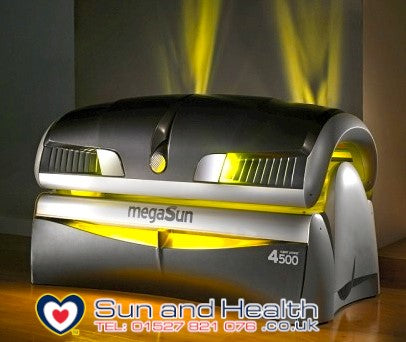 Commercial Lie Down Sunbed, Megasun 4500, Sun and Health