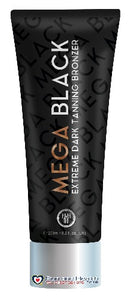 Power Tan Mega Black Dark Tan Bronzer Sunbed Tanning Lotion