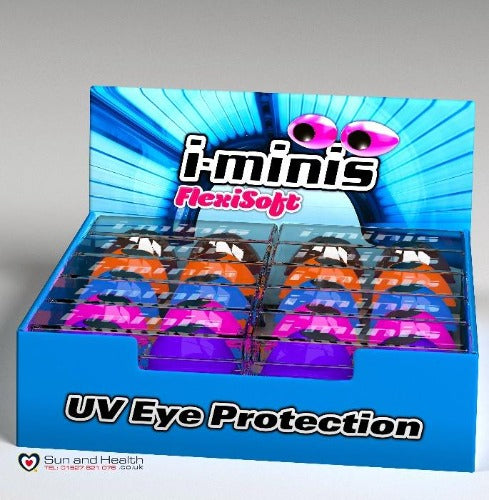 i-minis Flexisoft UV Eye Protection Shields Sunbed Goggles