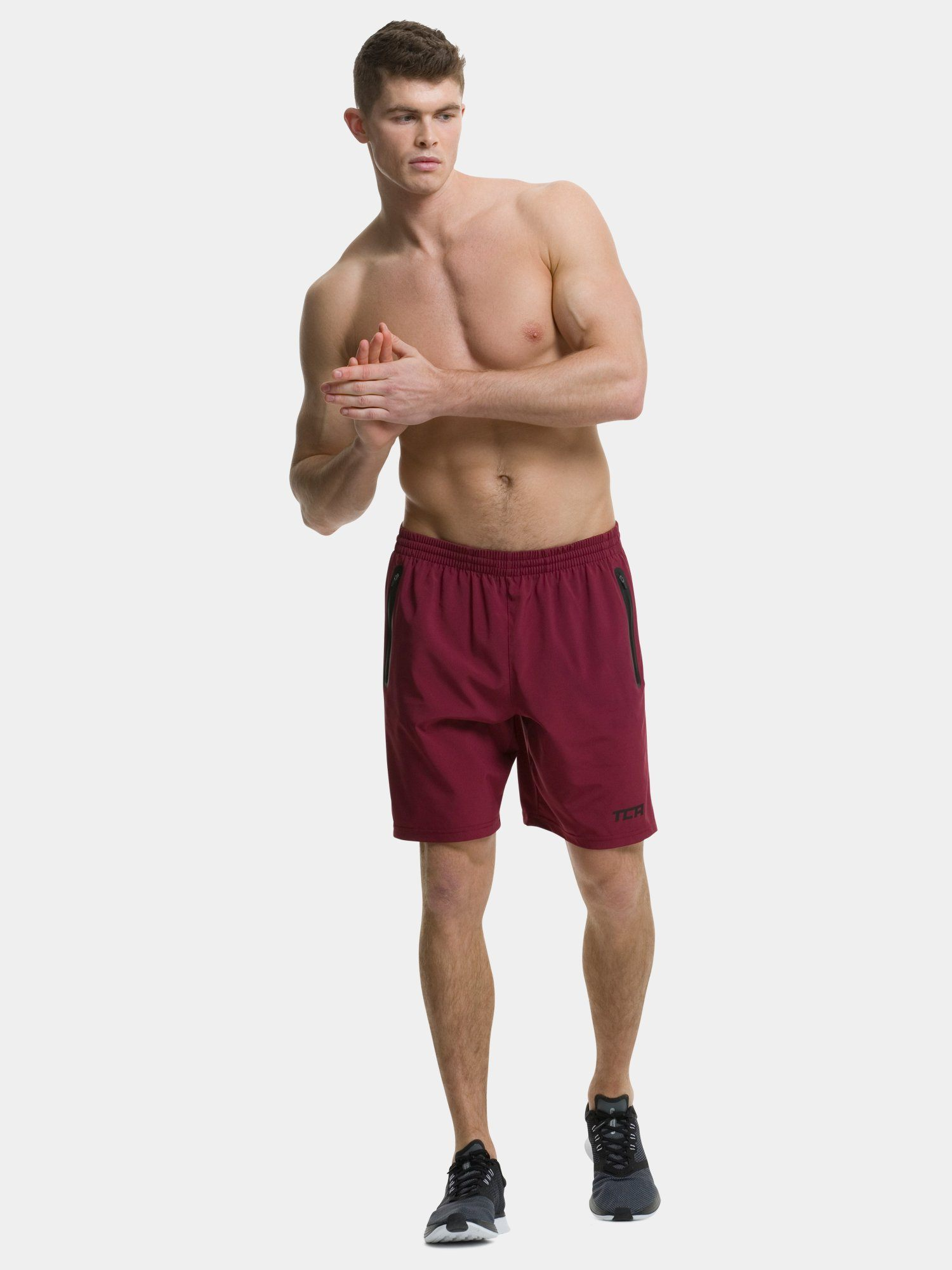 TCA Elite Tech Men's Running Shorts - Carmine Red
