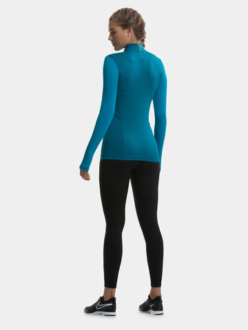 TCA Legend SuperKnit Women's Long Sleeve Top - Aqua Blue