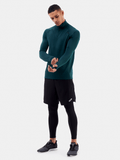 Green Competitor Men's Track Top - Side