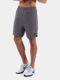 TCA Endurance Men's 2-in-1 Running Shorts - Quiet Shade Grey