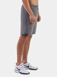 Grey Endurance 2-in-1 Running Shorts - Side