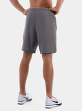Grey Endurance 2-in-1 Running Shorts - Back