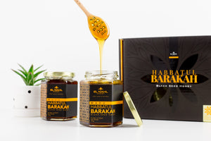"[LAUNCHING SALE] Twin Regular Pack (2x Habbatul Barakah Honey 375g + Free Wooden Spoon) + Free E-book ""How Honey is best consumed?"""