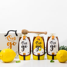 """ON THE GO"" Squeeze Bottle Set - 2x Black Seed Honey + 1x Black Seed Honey with lemon"