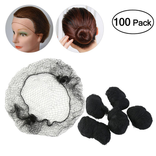 TINKSKY 100pcs Hair Nets Invisible Elastic Edge Mesh