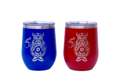 10 oz Powder Coated Wine Tumbler - BerserkerBrew.com