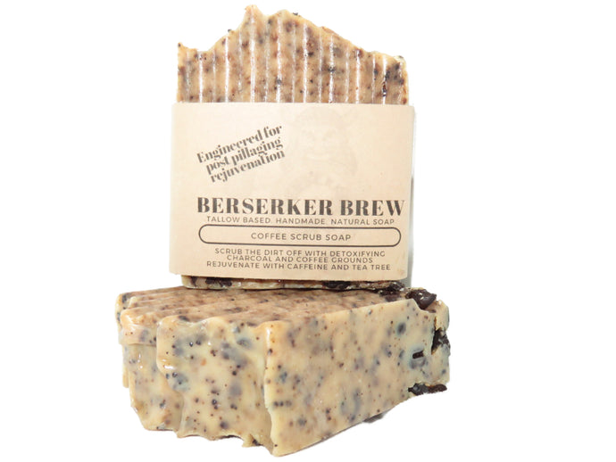 All Natural Coffee Scrub Soap - BerserkerBrew.com
