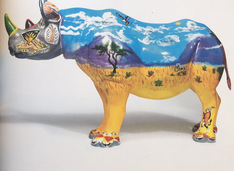 Ronnie Wood's rhino 'Spike', it was the highest lot of the night and sold for £200,000