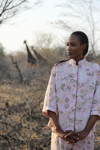 C. St. Quinton Safari Pyjamas in Sundown Pink