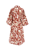 Long Robe in Protea Red