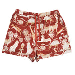 Short Safari Pyjamas in Protea Red