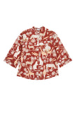 Safari Pyjamas in Protea Red