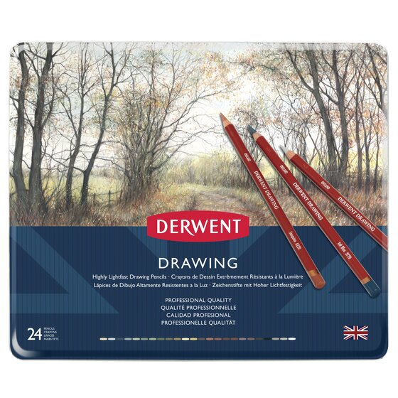 Derwent Drawing Collection 24 Piece Tin