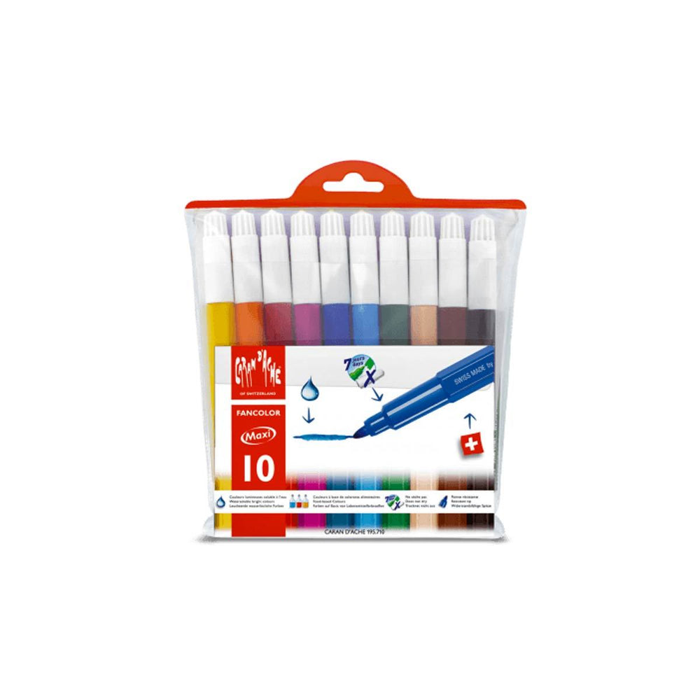 Caran d'Ache Fancolor Set of 10 Fibre Tip Pens