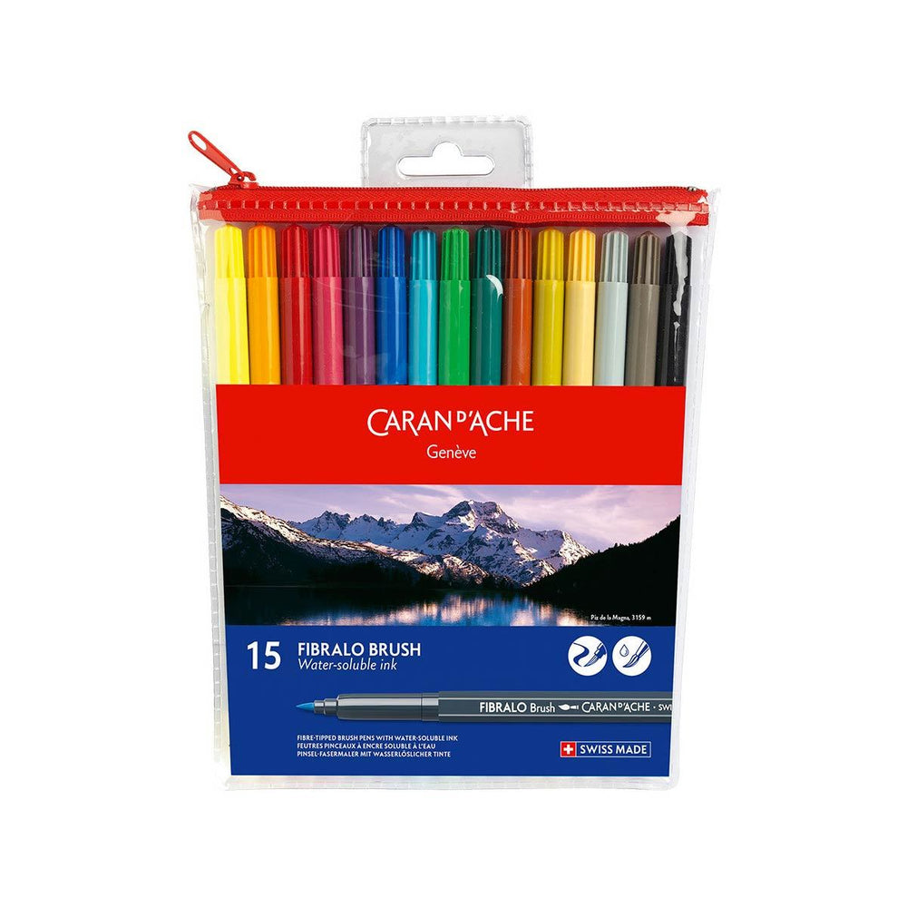 Caran d'Ache Fibralo Set of 15 Brush Pens