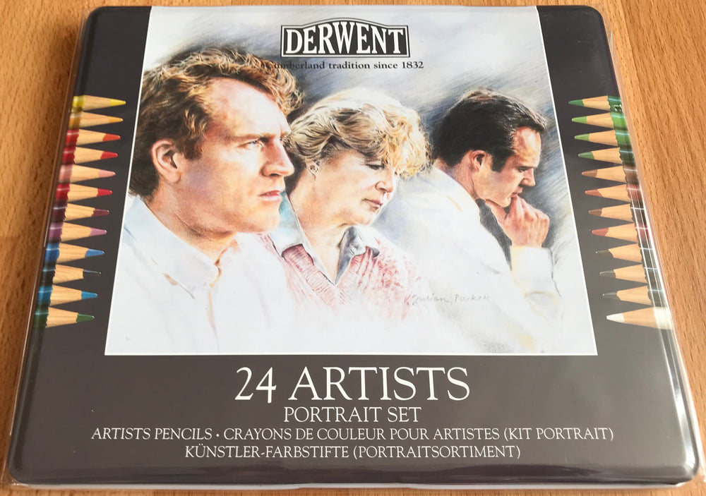 Derwent Artists' Portrait Set of 24 Coloured Pencils