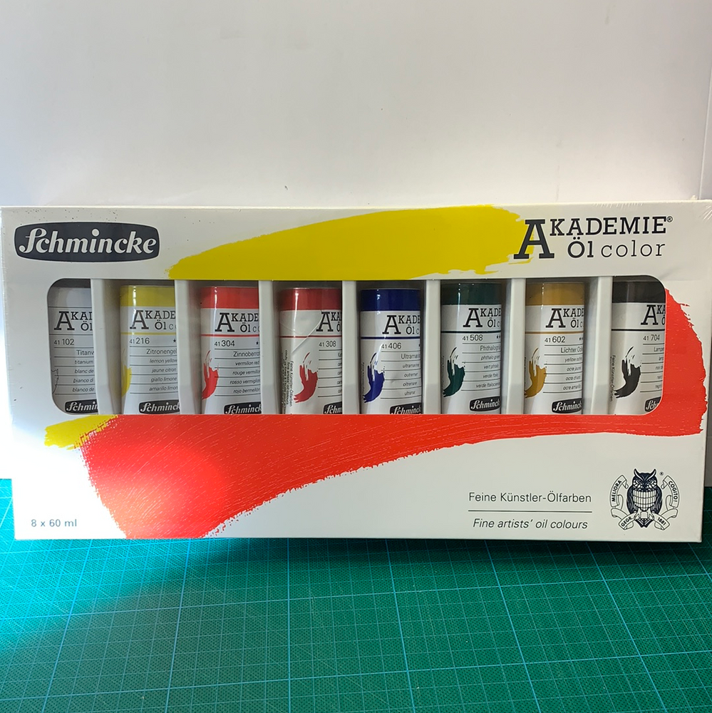 Schmincke Akademie Oil Colour Set 8 x 60ml tubes