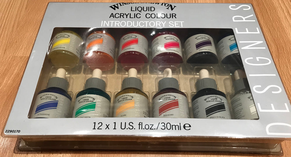 Winsor & Newton Liquid Acrylic Colour Designers Introductory Set