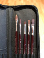 Winsor & Newton Galeria Acrylic Brushes in Wallet Set