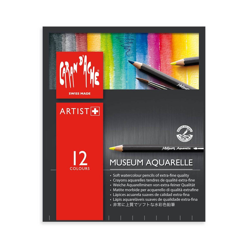 Caran d'Ache Museum Aquarell Set of 12 Pencils